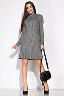 Платье с изящным воланом 120PSS004 (Серый)