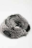 Шарф женский 120PROS006 (Черно-белый), фото 1
