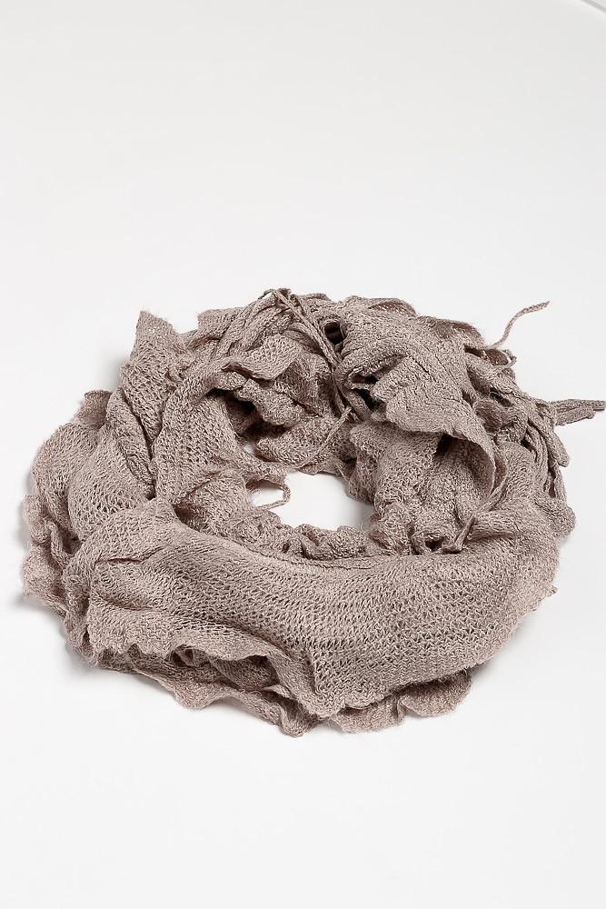 Базовый женский шарф 120PROS06775 (Серый)