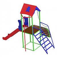 Комплекс Башенка с горкой, спортивно-игровой для детей 808/кду