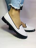 Mario Muzi. Женские туфли -балетки из натуральной кожи с перфорацией Размер 36. 37.38.39., фото 3