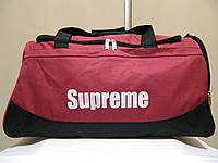Дорожня сумка Supreme (Ідеальна), червоний колір ( код: IBS015R ), фото 1