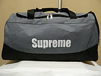 Дорожня сумка Supreme (Ідеальна), сірий колір ( код: IBS015S ), фото 1