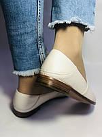Molka. Жіночі балетки -мокасини з натуральної шкіри.Білий і бежевий 36 38 39 40.Vellena, фото 4