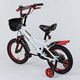 Велосипед детский двухколесный 14 белый Corso R-14081, фото 2