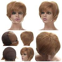 Самый легкий Парик из натуральных волос на сетке - система Terry HH русый цвет
