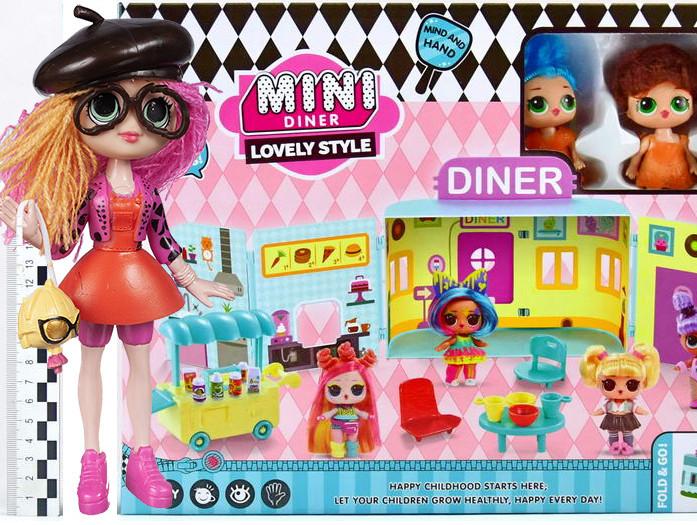 "Игровой набор \""Куколки LOL OMG: Мини кафе с 2 куклами и аксессурами\""  + Кукла LOL OMG 1202 в подарок"