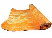 Йогамат для занятий йогой , спортом , коврик для занятий спортом , йогой MS2138 (Yellow)