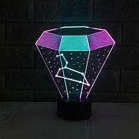 """3D светильник """"Алмаз"""""""