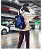 Городской рюкзак  черный с синим HELLOU THE BAG с пеналом в комплекте, фото 5
