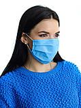 Защитная чёрная с накатом маска  на лицо хлопковая многоразовая, фото 9