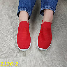 Женские кроссовки слипоны на амортизаторах, красные, р.38,40, фото 2