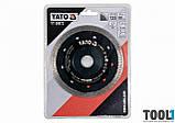 Диск отрезной алмазный по гресу, стеклу, керамике Ø=125x1.6x10x22.2 мм, в сухом режиме YaTo YT-59972, фото 2