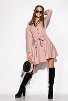 Лаконичное платье GS 120POI20008 (Капучино)