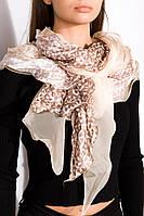 Шарф GS женский 120PELMR005 (Бежево-коричневый)