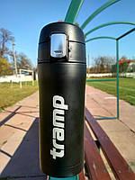 Термокружка Tramp 0,35 л чорний матовий TRC-106-black. Кружка термос 350 мл.