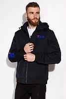 Куртка GS мужская с капюшоном 120POB21011-1 (Темно-синий)