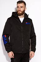 Куртка GS мужская с капюшоном 120POB21011-1 (Черный)