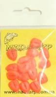 Наживка силиконовая Mad Carp Кукуруза со стопорами оранжевая 16шт