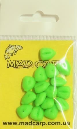 Наживка силиконовая Mad Carp Кукуруза со стопорами салатовая 16шт