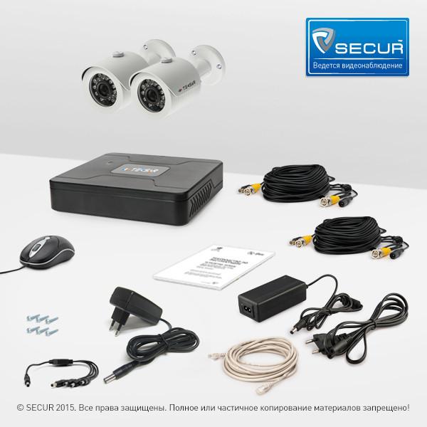 Комплект відеоспостереження Tecsar 2OUT LUX
