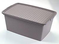 """Ящик для хранения """"Ротанг"""" Heidrun, 20 л, 43 х 32 х 22 см (4511)"""