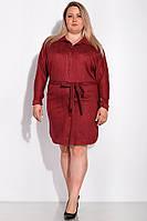 Платье женское с поясом GS 151P2948 (Бордо)