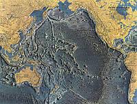 Карта Рельеф дна Тихого океана