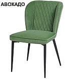 Мягкий стул M-44 авокадо вельвет Vetro Mebel, фото 4
