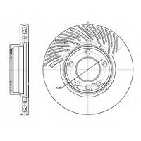 Тормозной диск передний левый PORSCHE CAYENNE (2002-),VW TOUAREG (-2010г), пр-во ZIMMERMANN 600.3224.20, фото 1