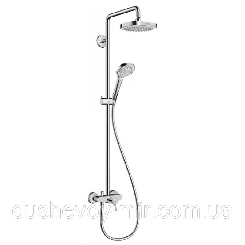 HANSGROHE Croma Select E 180 2jet Showerpipe Душевая система, цв белый хром