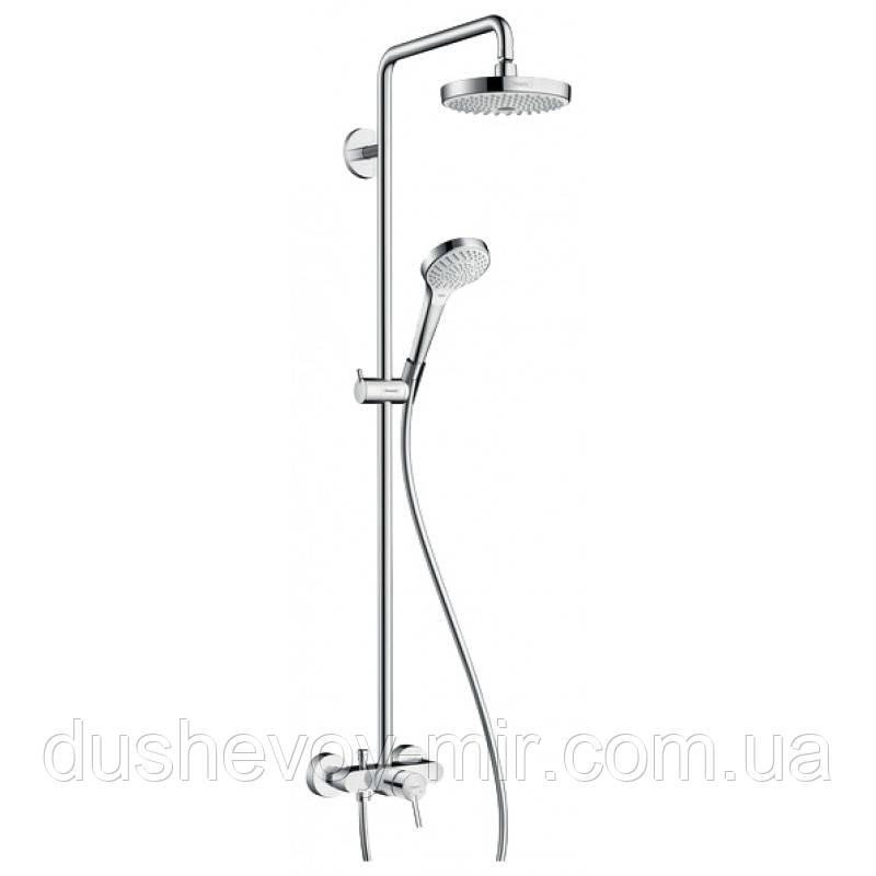 HANSGROHE Croma Select S 180 2jet Showerpipe Душевая система цв белый