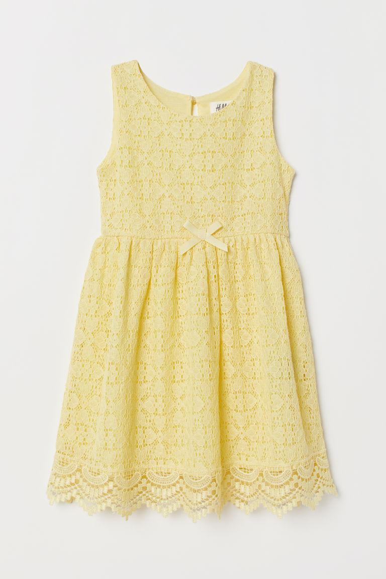 Гипюровое платье для девочки  желтое H&M р.92см (1,5-2года)