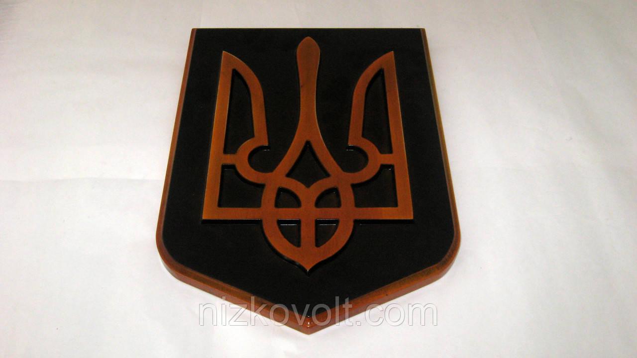 Сувенир «Герб Украины»- резьба по дереву, фото 1