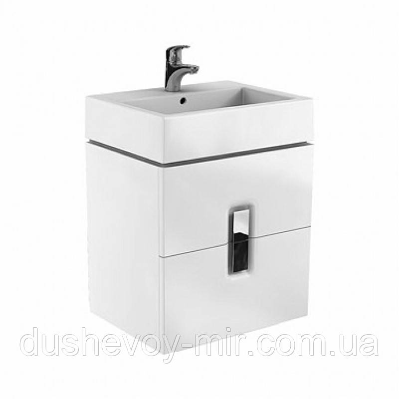 KOLO TWINS шкафчик под умывальник 60 см с двумя ящиками, белый глянец 89492-000