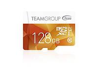 Карта памяти MicroSDXC 128GB UHS-I Team Color Yellow (TCUSDX128GUHS02)