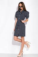 Платье GS -Рубашка GS в мелкий горох 120PUR281 (Темно-синий)
