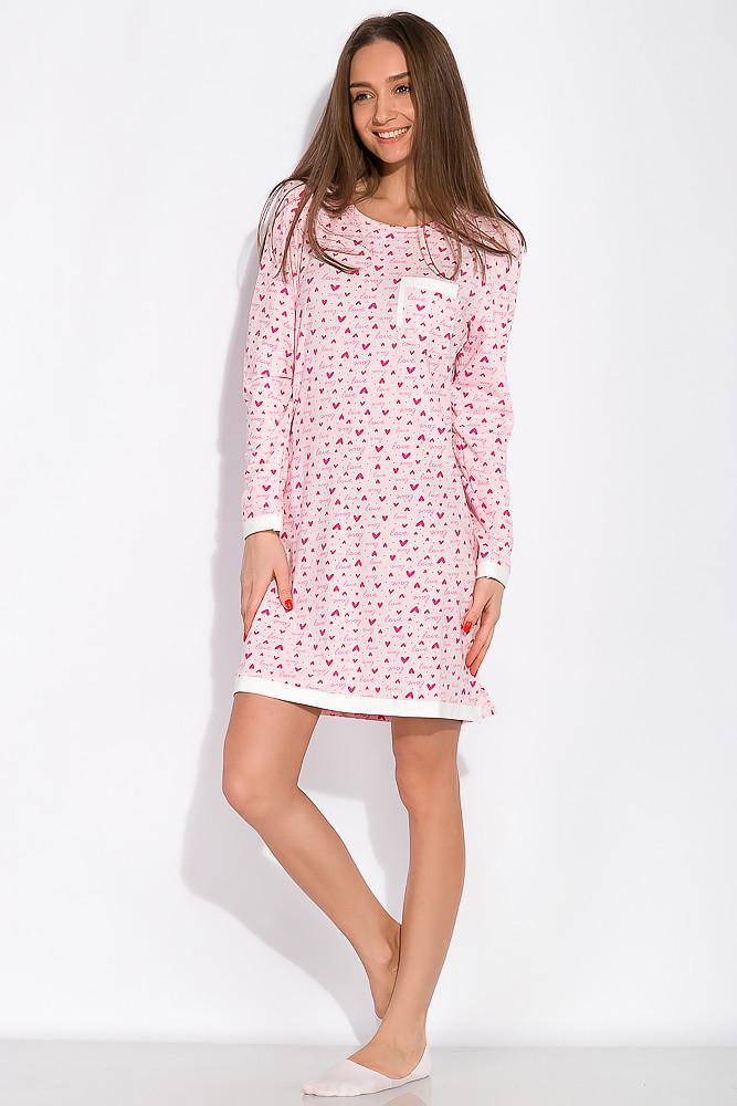 Сорочка женская 107P131-3 (Розово-молочный/принт)