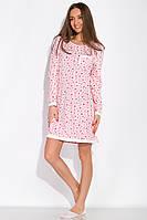 Сорочка женская 107P131-3 (Розово-молочный/принт), фото 1