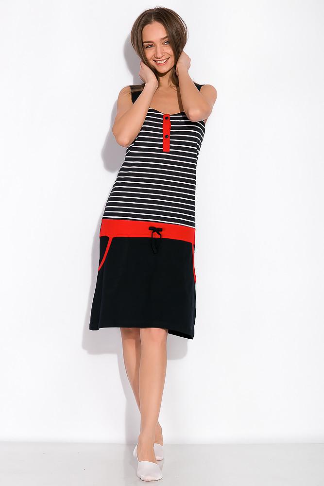 Ночная рубашка женская 107P2720 (Темно-синий/красный)