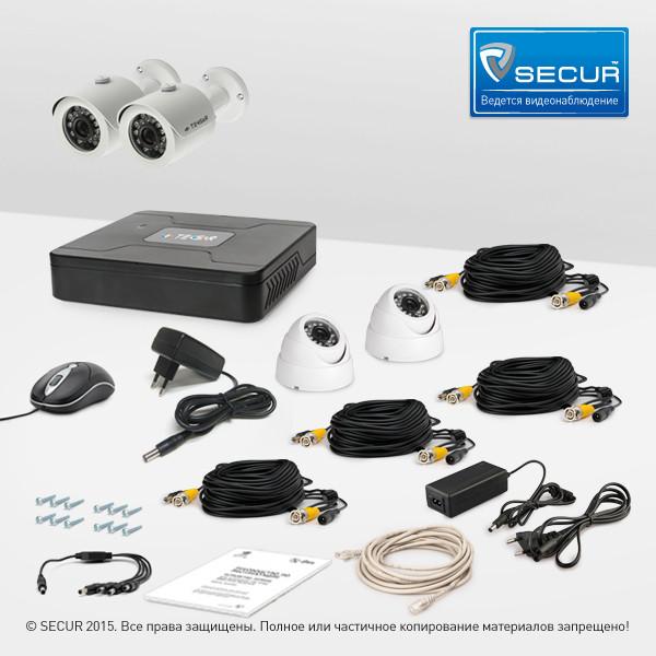 Комплект відеоспостереження Tecsar 4OUT-MIX LUX