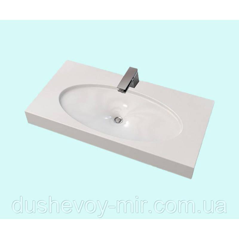 Умывальник акриловый ARTEL PLAST APR 004 - 14 белый 100x50x7