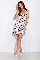 Ночная сорочка женская 107P4 (Молочный принт), фото 1