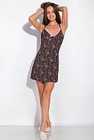 Ночная сорочка женская 107P4-2 (Черно-розовый/принт), фото 1