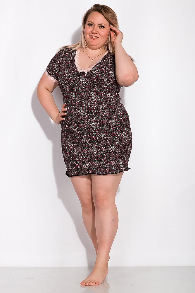 Ночная сорочка женская 107P7-1 (Черно-розовый)