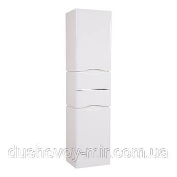 Пенал Венеция консольный 40 см Белый с корзиной для белья (правый)