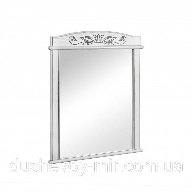 Зеркало Микела 80 см белое