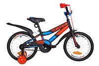 """Велосипед 16"""" Formula RACE усилен. St с крылом Pl 2019 (черно-оранжевый с синим (м))"""