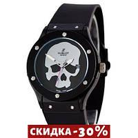 Мужские наручные часы Classic Fusion Skull Quartz Black-Silver