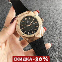 Женские наручные часы 6106 Black-Gold-Black